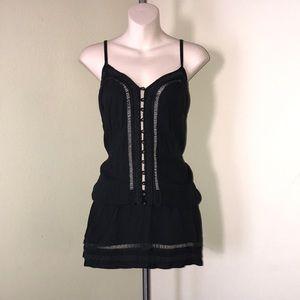 Goddess Tops - Beautiful black tunic boho style top.
